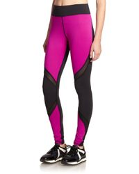 Michi | Purple Suprastelle Colorblock Performance Leggings | Lyst