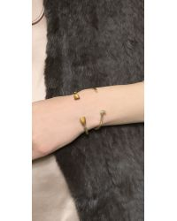 Giles & Brother | Metallic Mini Railroad Spike Bracelet - Brass Ox | Lyst