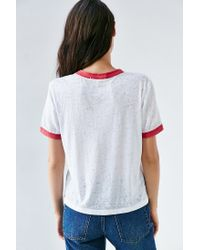 Truly Madly Deeply - White Letters Of Cities Ringer Tee - Lyst