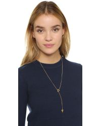 Jennifer Zeuner - Metallic Sasha Lariat Necklace - Lyst