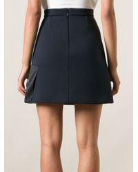 MSGM - Blue Truth Skirt - Lyst