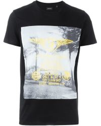DIESEL | Black T-diego-fs T-shirt for Men | Lyst