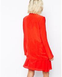 Gestuz - Amoret Blazer In Tomato Red - Lyst