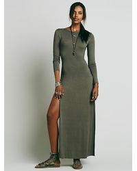Free People | Green Fp X Womens Fp X Solid Impression Maxi | Lyst