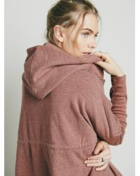 Free People | Red Womens Oversized Zip Hoodie | Lyst
