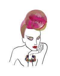 Erickson Beamon - Pink Aquarela Do Brasil Goldplated Swarovski Crystal Cuff - Lyst
