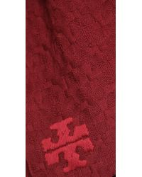Tory Burch | Red Whipstich Scarf | Lyst
