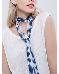 Free People | Blue With Wind Skinny Scarf | Lyst