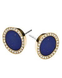 Michael Kors | Blue Lapis Circle Stud Earrings | Lyst