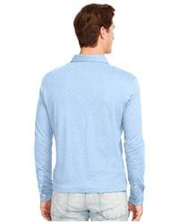 Polo Ralph Lauren - Blue Long-sleeved Pima Soft-touch Shirt for Men - Lyst