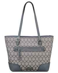 Nine West - Gray 9 Jacquard Tote - Lyst