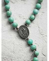 Free People - Green Wild Spirit Necklace - Lyst