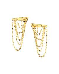 Lana Jewelry - Yellow 14k Gold Elite Small Draping Earrings - Lyst