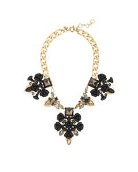 J.Crew | Black Punk Floral Necklace | Lyst