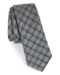 W.r.k. - Gray Check Wool, Silk & Cotton Tie for Men - Lyst