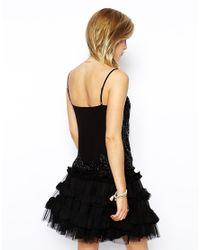 Needle & Thread - Black Etch Lattice Embellished Top - Lyst