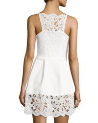 Alexis - Natural Cole Floral-Lace Cotton-Blend Dress - Lyst