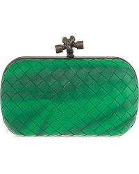 Bottega Veneta | Green Intrecciato Ombre Clutch | Lyst