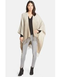 Hinge - Gray Ombre Fringe Cape - Lyst