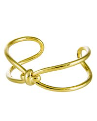 Giles & Brother - Metallic Skinny X Knot Cuff Bracelet - Lyst
