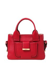 See By Chloé - Red Mini Delia Grained Leather Top Handle - Lyst