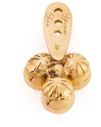 Yvonne Léon   Metallic 18Kt Gold 'Trilogie' Stud Earring   Lyst