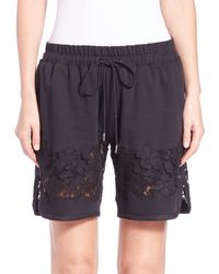 3.1 Phillip Lim | Black French Terry Shorts | Lyst