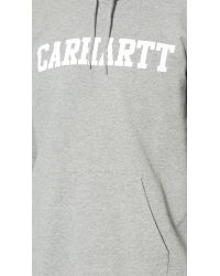 Carhartt WIP   Gray Hooded College Sweatshirt for Men   Lyst