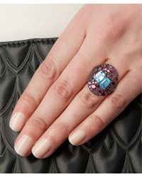 Stephen Dweck - Purple Sterling Silver Topaz Twin Stone Ring - Lyst