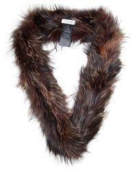 Yves Salomon - Brown Double Loop Fur Scarf - Lyst