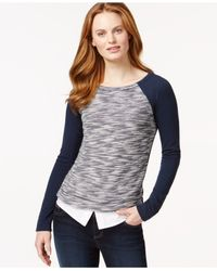 Tommy Hilfiger | Blue Layered-hem Sweater | Lyst