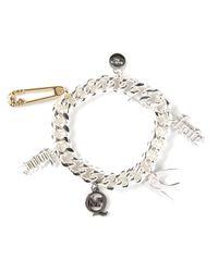 McQ | Metallic Charm Bracelet | Lyst