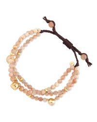 Tai | Natural Multi-Strand Rose Agate Bracelet | Lyst