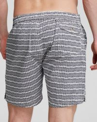 Psycho Bunny - Blue Micro Bunny Tab Front Swim Trunks for Men - Lyst