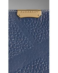 Burberry | Blue The Small Canter In Bonded Leather | Lyst