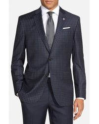 Ted Baker - Blue 'jay' Trim Fit Check Wool Sport Coat for Men - Lyst