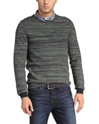 BOSS Orange - Blue Sweater 'kraig' In Cotton Blend for Men - Lyst