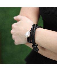 Mizuki - Black Freshwater Pearl Wrap Bracelet - Lyst
