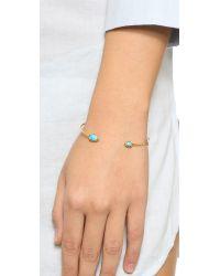 Tai - Blue Dual Stone Bracelet - Turquoise/gold - Lyst