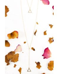 AKIRA | Metallic Swing Low Gold Necklace | Lyst
