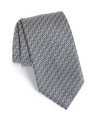 Brioni | Gray Geometric Silk Tie for Men | Lyst