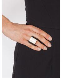 Monies - Black Tube Ring - Lyst