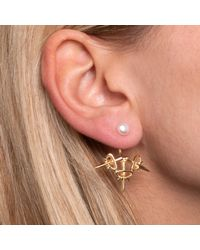 Leivan Kash - Metallic Dagger Ear Jacket Gold - Lyst