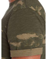 G-Star RAW - Green Camo Print Crew Neck T Shirt for Men - Lyst