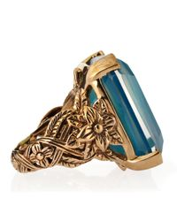 Stephen Dweck - Blue Agate Flower Band Ring Size 7 - Lyst