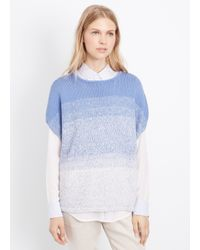 Vince | Blue Marled Ombré Textured Cocoon Pullover | Lyst