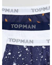 TOPMAN - Blue Rockets In Space 3 Pack Underwear for Men - Lyst