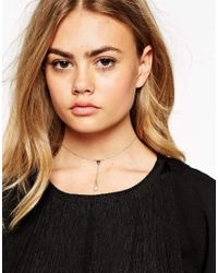 ASOS | Green Mini Triangle Shard Choker Necklace | Lyst