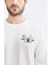 Urban Outfitters | White Santa Monica Airlines Long-sleeve Tee for Men | Lyst