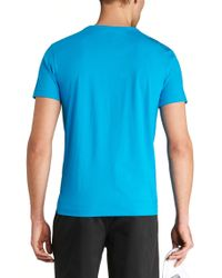 BOSS Green | Blue 'tee' | Cotton Jersey T-shirt for Men | Lyst
